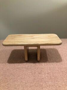 Handcrafted Red Oak Pi Meditation Bench