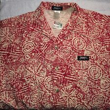 NWT Jimmy'z Vintage Camp Shirt S/S M Designs Cotton Linen Blend USA REDUCED