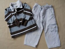Toddler Boys Rugby Shirt & Cargo Pant Jeans size 3 / 3 T / Gap / Place