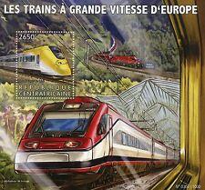 Central African Republic 2015 MNH European High-Speed Trains 1v S/S Arlanda