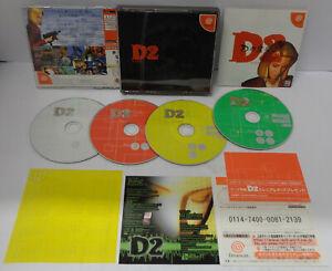 Console Game SEGA Dreamcast NTSC/J JAP Giapponese D 2 Horror  D2 Warp Limited Ed