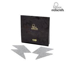 Accessoires Cache-Seins Flash Eclair Argent Taille Unique - BIJOUX INDISCRETS