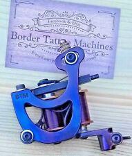 """CUT-BACK LINER"" BORDER TATTOO MACHINE,CUSTOM IRON BLUED FRAME PURPLE 8 LAYER CO"