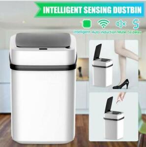 Smart Home Automatic Sensor Dustbin Kitchen Waste Bin Rubbish Trashcan 10L UK