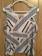 Chico's Tank Top Weave/Line Print Size 2 Lovely!!