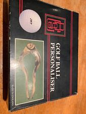 BCS Vintage Collectable Boxed Pro Golf Ball Personaliser Kit