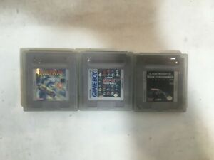 Lot of 3 Game Boy Games with Plastic Cases Untested- FT