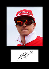 KIMI RAIKKONEN #1 Signed Photo Print A5 Mounted Photo Print - FREE DELIVERY