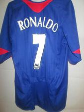 Manchester United 2004-2005 Ronaldo 7 Away camiseta de fútbol Tamaño Mediano / 34074