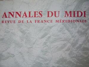 ANNALES DU MIDI 1983 N° 163 TROUBADOURS et COMTE TOULOUSE DROIT FÉODAUX ROUERGUE