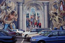 554033 A Cosmopolitan City Philadelphia Pennsylvania A4 Photo Texture Print