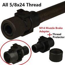 M14Muzzle Brake Adapter 5/8x24 Thread + Thread Protector 5/8x24 Thread
