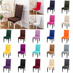 4/6pcs Elastic Stretch Seat Case Slipcover Chair Cover Home Hotel Banquet Decal