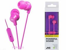 JVC HA-FR15-P Sound Isolation In Ear Pink Headphones Earbuds with Mic & Remote