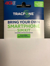 TRACFONE 4G LTE SIM CARD USING THE AT&T NETWORK 3IN1 SIM CARD ONE SIZE FITS ALL