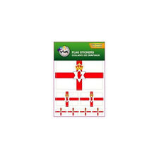 NORTHERN IRELAND , SET OF 7 COUNTRY FLAG VINYL CAR STICKERS , 3 SIZES .. NEW