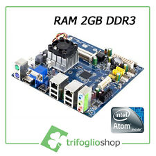 SCHEDA MADRE MINI ITX-FORM FACTOR Intel® Atom™ D2550 PICCOLE DIMENSIONI DDR3 2GB