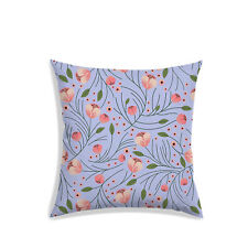 "18x18"" Throw Pillow Case Sofa Waist Cushion Cover Floral Cushions Pillowcase"