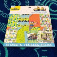 Minions double Sided Paper Pad 36 Sheets Cardstock Bob Kevin Stuart