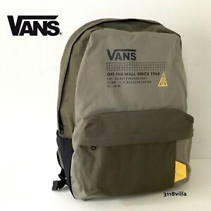 Vans OLD SKOOL 66 Plus Backpack -- Green Yellow Cordura School Laptop Bag