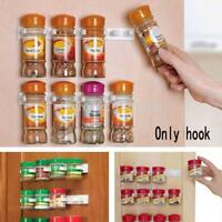 Sets Shop Kitchen Clip Spice Gripper Jar Rack Storage Holder-Wall Cabinet Door