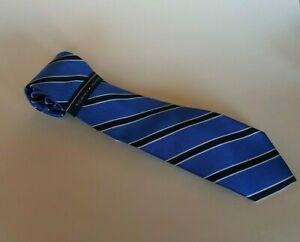 Tommy Hilfiger Men's 100% Silk Necktie in Blue Striped Retail $69.50 New
