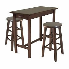 Winsome 3-Pc Breakfast Table w/2 Square Leg Stools 94342 Dining Set