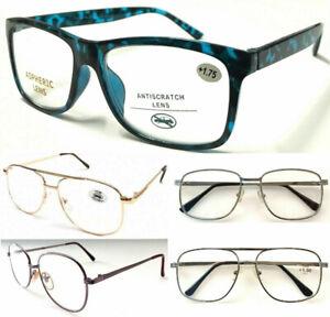 Multi Popular Style Large Lens Design Reading Glasses/Mens Womens Metal Plastic*