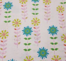 Forest Friends BTY Anton & ink Camelot Cottons Teal Lime Pink Floral Pale Pink
