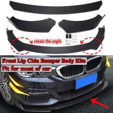 Carbon Fiber Style Universal Adjustable Car Front Bumper Lip Spoiler Body Kit
