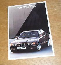 BMW 7 Series Brochure E32  1988 - 730I 735I SE 735IL SE