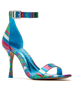 Katy Perry Melly Dress Strappy Sandals Blue Multi Size 8.5 M