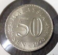 "MALAYSIA  50 sen coin Parliament series 1973  ""UNC"""