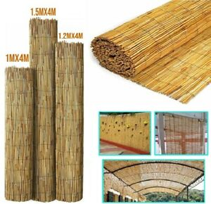 Natural Bamboo Reed Fence Panel Peeled Sun Privacy Screening Roll Garden Outdoor