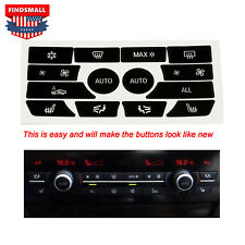 Replacement Climate Control Button Stickers For 2009-2015 BMW 5 Series New