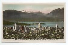 CANADA carte postale ancienne VANCOUVER aerial view showing brockton point