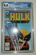Incredible Hulk #340 - CGC 9.4 White Pages - Wolverine vs Hulk - McFarlane