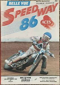 20/9/1986 Belle Vue vs Ipswich Speedway Programme