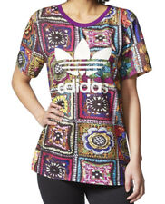 adidas X Farm Womens Crochita BOYFRIEND Short Sleeve Crewneck T-shirt Tee Top 8