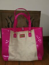 Lipsy Beach Bag pink and gold pvc bag