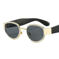 New Punk Sunglasses Women Fashion Hand-made Rhinestone Vintage Shades Eyewear