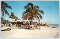 1959 FT. MYERS BEACH FLORIDA TIP-TOP DINER RESTAURANT PIER COCA-COLA SIGN MULLET