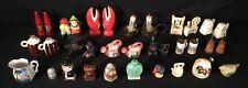 Vtg Lot Salt Pepper Shakers Ceramic Metal Plastic Japan Souvenier Collection