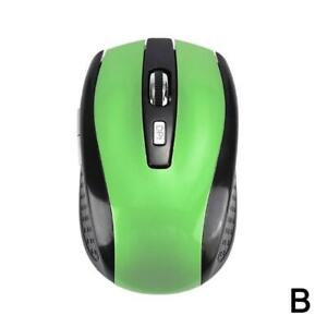 2.4GHz Cordless Wireless Optical Mouse Mice Laptop PC Computer + USB Rec new