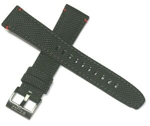 SEIKO VERY TOUGH TEXTILE WATCH STRAP BLACK + RED STITCH FITS 21MM STRAIGHT END