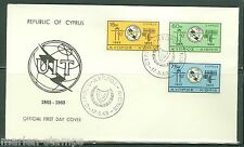 CYPRUS CENTENARY OF THE INT'L TELECOMMUNICATION UNION SET FIRST DAY COVER