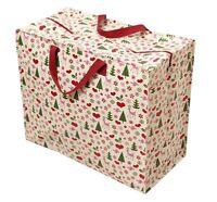 dotcomgiftshop 50'S CHRISTMAS DESIGN RECYCLED REUSABLE LAUNDRY JUMBO STORAGE BAG