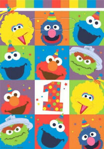 Party Supplies Sesame Street 1st First Birthday Elmo One Lolly Loot Bags Pk 8