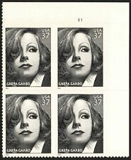 USA Sc. 3943 37c Greta Garbo 2005 MNH plate block