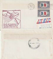 US 1959 PAN AM FAM 5 FIRST FLIGHT FLOWN COVER NEW YORK NY TO ASUNCION PARAGUAY